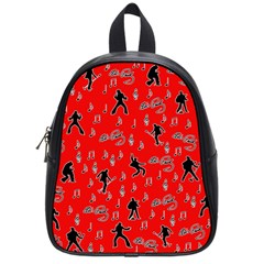 Elvis Presley  pattern School Bags (Small)