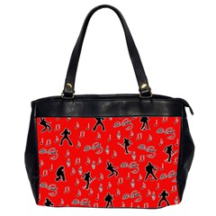 Elvis Presley  pattern Office Handbags (2 Sides)