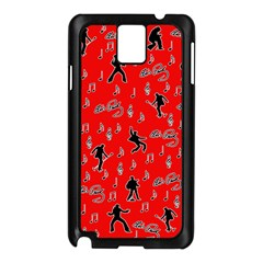 Elvis Presley  pattern Samsung Galaxy Note 3 N9005 Case (Black)
