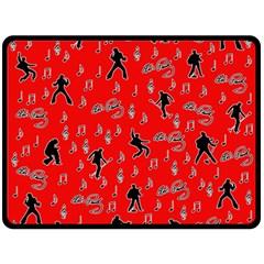 Elvis Presley  pattern Double Sided Fleece Blanket (Large)