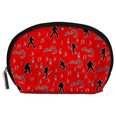 Elvis Presley  pattern Accessory Pouches (Large)