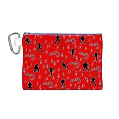 Elvis Presley  pattern Canvas Cosmetic Bag (M)