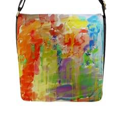 Paint texture                        Flap Closure Messenger Bag (L)