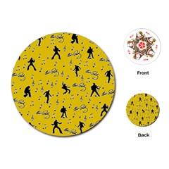 Elvis Presley  pattern Playing Cards (Round)