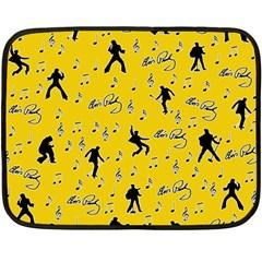 Elvis Presley  pattern Double Sided Fleece Blanket (Mini)