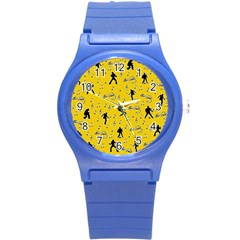 Elvis Presley  pattern Round Plastic Sport Watch (S)