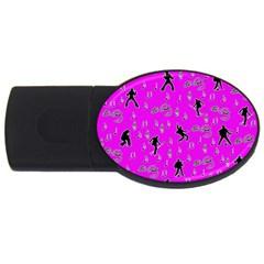 Elvis Presley  pattern USB Flash Drive Oval (4 GB)
