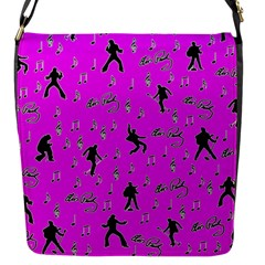 Elvis Presley  pattern Flap Messenger Bag (S)