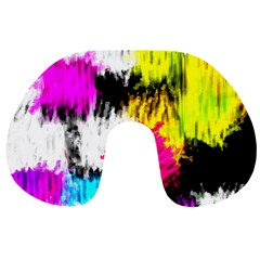 Colorful blurry paint strokes                         Travel Neck Pillow