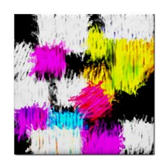 Colorful blurry paint strokes                         Tile Coaster