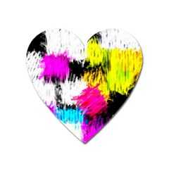 Colorful blurry paint strokes                         Magnet (Heart)