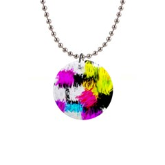 Colorful blurry paint strokes                         1  Button Necklace