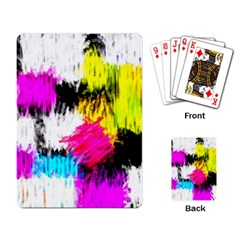 Colorful blurry paint strokes                         Playing Cards Single Design