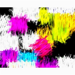 Colorful blurry paint strokes                         Canvas 8  x 10