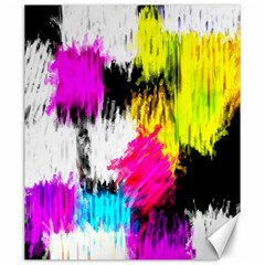 Colorful blurry paint strokes                         Canvas 20  x 24
