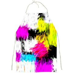 Colorful blurry paint strokes                         Full Print Apron