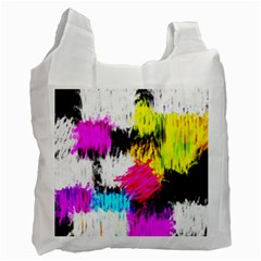 Colorful blurry paint strokes                         Recycle Bag (One Side)
