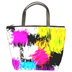 Colorful Blurry Paint Strokes                    Bucket Bag