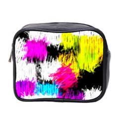 Colorful blurry paint strokes                         Mini Toiletries Bag (Two Sides)