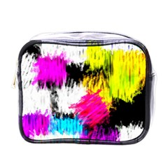Colorful blurry paint strokes                         Mini Toiletries Bag (One Side)