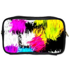 Colorful blurry paint strokes                         Toiletries Bag (One Side)