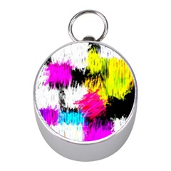 Colorful blurry paint strokes                         Silver Compass (Mini)