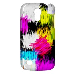 Colorful blurry paint strokes                   Samsung Galaxy S4 I9500/I9505 Woven Pattern Leather Folio Case