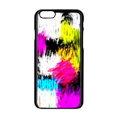Colorful blurry paint strokes                   Apple iPhone 6/6S White Enamel Case