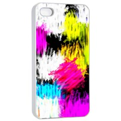 Colorful blurry paint strokes                   Apple iPhone 4/4s Seamless Case (Black)