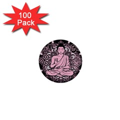 Ornate Buddha 1  Mini Buttons (100 pack)