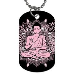 Ornate Buddha Dog Tag (One Side)