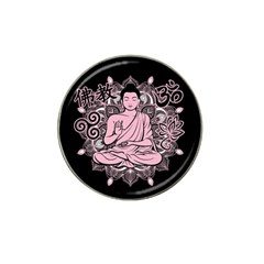 Ornate Buddha Hat Clip Ball Marker (4 pack)