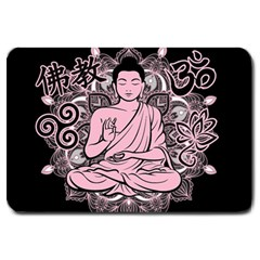 Ornate Buddha Large Doormat
