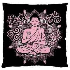 Ornate Buddha Large Cushion Case (One Side)