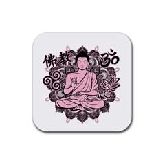 Ornate Buddha Rubber Coaster (Square)