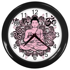 Ornate Buddha Wall Clocks (Black)