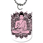 Ornate Buddha Dog Tag (Two Sides) Front