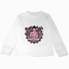 Ornate Buddha Kids Long Sleeve T-Shirts