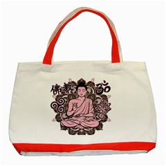 Ornate Buddha Classic Tote Bag (Red)