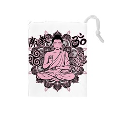 Ornate Buddha Drawstring Pouches (Medium)