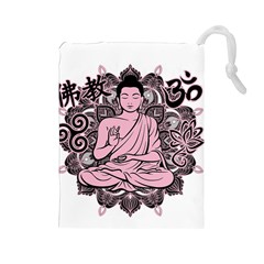 Ornate Buddha Drawstring Pouches (Large)