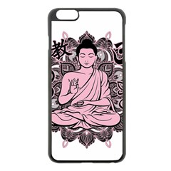 Ornate Buddha Apple iPhone 6 Plus/6S Plus Black Enamel Case