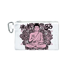 Ornate Buddha Canvas Cosmetic Bag (S)