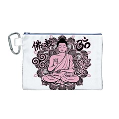 Ornate Buddha Canvas Cosmetic Bag (M)
