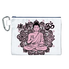Ornate Buddha Canvas Cosmetic Bag (L)