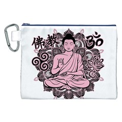 Ornate Buddha Canvas Cosmetic Bag (XXL)