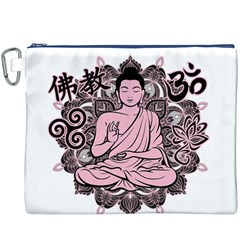 Ornate Buddha Canvas Cosmetic Bag (XXXL)