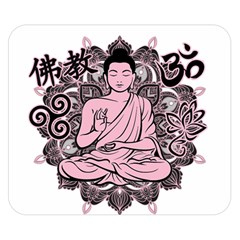 Ornate Buddha Double Sided Flano Blanket (Small)