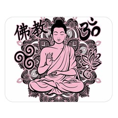 Ornate Buddha Double Sided Flano Blanket (Large)