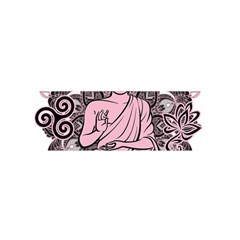 Ornate Buddha Satin Scarf (Oblong)
